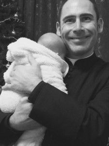 Fr Murray with baby