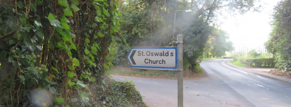 Sign to St Oswald's