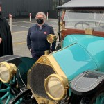 Vicat at Salvation Army with Vintage Car