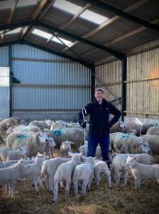 Fr Murray with the flock