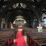 Main aisle of church